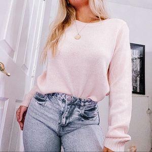 Baby pink crew sweater